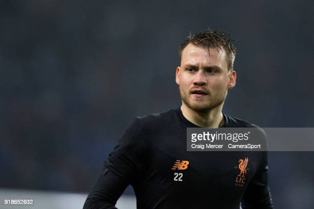 Liverpool's Simon Mignolet during the prematch warmup during the UEFA Champions League Round of 16 First Leg match between FC Porto and Liverpool at...