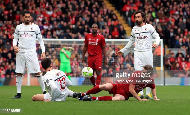 Liverpool's Steve McManaman in action during the Legends match at Anfield Stadium Liverpool