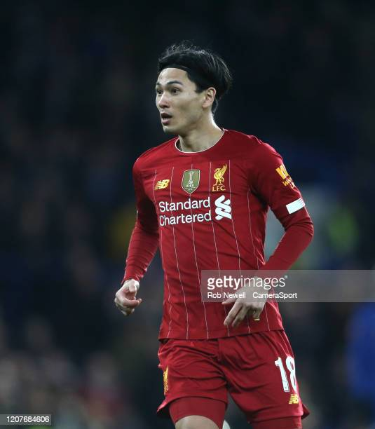 Liverpool's Takumi Minamino during the FA Cup Fifth Round match between Chelsea and Liverpool at Stamford Bridge on March 3 2020 in London England