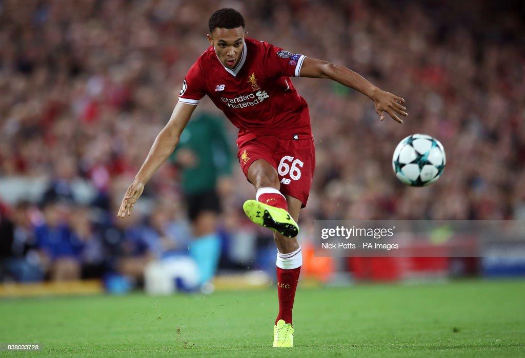 Liverpool v TSG 1899 Hoffenheim - UEFA Champions League - Play-Off - Second Leg - Anfield : News Photo