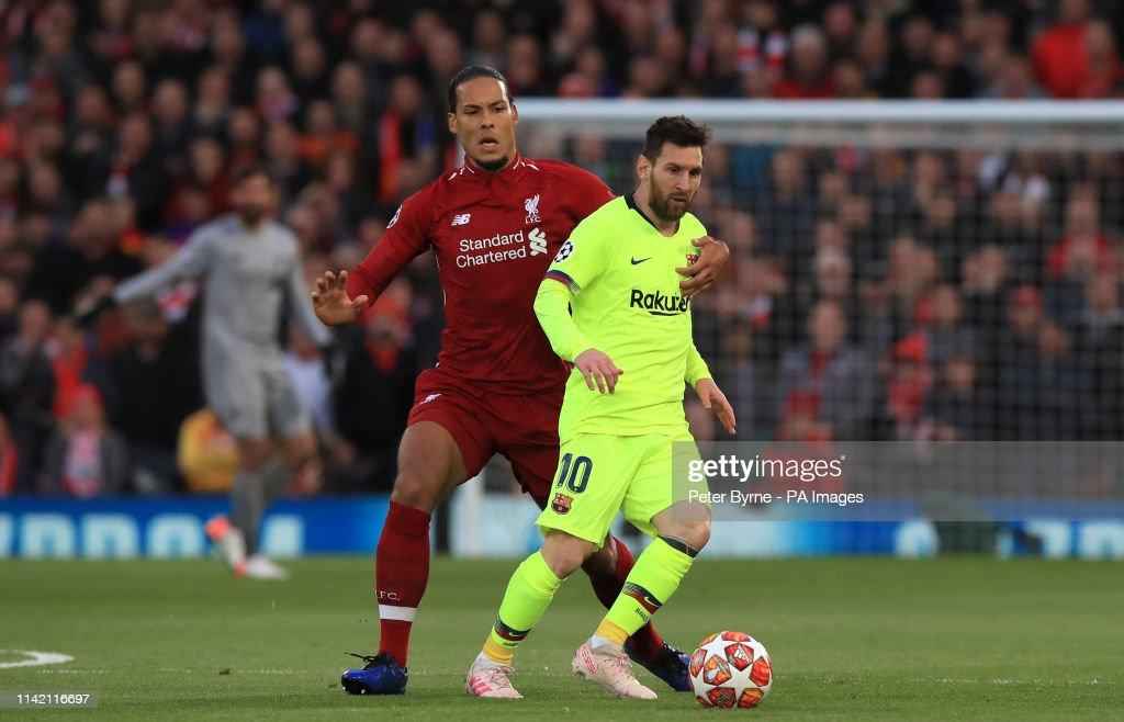 Liverpool v Barcelona - UEFA Champions League - Semi Final - Second Leg - Anfield : News Photo