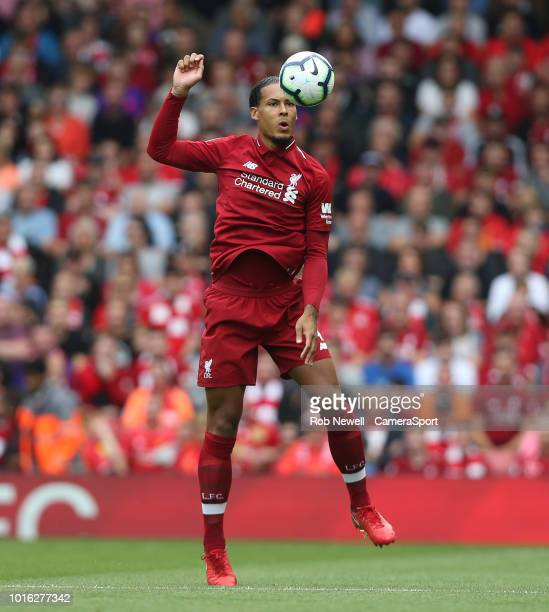 Liverpool's Virgil van Dijk during the Premier League match between Liverpool FC and West Ham United at Anfield on August 12 2018 in Liverpool United...