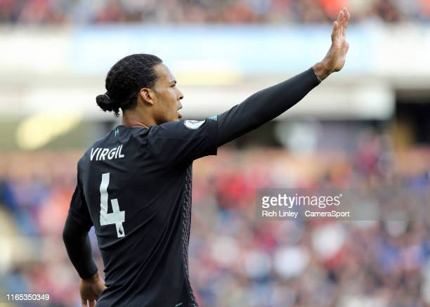 Liverpool's Virgil van Dijk during the Premier League match between Burnley FC and Liverpool FC at Turf Moor on August 31 2019 in Burnley United...