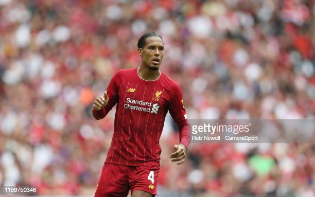 Liverpool's Virgil van Dijk during the The FA Community Shield match between Liverpool and Manchester City at Wembley Stadium on August 4 2019 in...