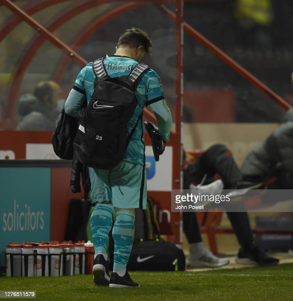 Liverpool's Xherdan Shaqiri During the Carabao Cup third round match between Lincoln City and Liverpool at Sincil Bank Stadium on September 24, 2020...
