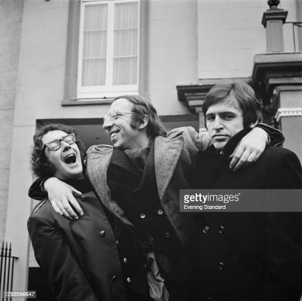 Liverpudlian comedy, poetry and musical trio The Scaffold, UK, 27th January 1968. From left to right, they are Roger McGough, John Gorman and Mike...
