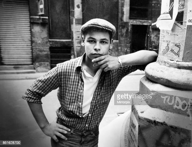 Liverpudlian television actor and comedian Craig Charles poses in his native city of Liverpool 14th March 1985