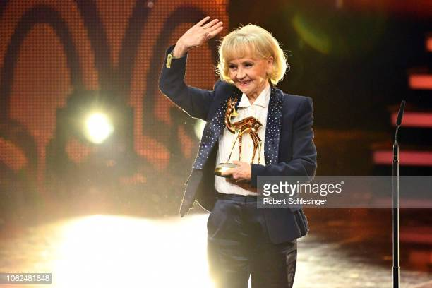 'Livetime Achievement' award winner Liselotte Pulver on stage during the 70th Bambi Awards show at Stage Theater on November 16 2018 in Berlin Germany