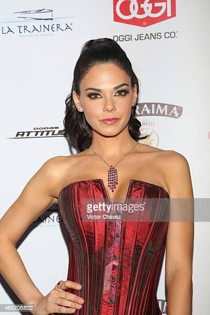 Livia Brito arrives at Premios TV y Novelas 2015 at Televisa San Angel on March 9 2015 in Mexico City Mexico