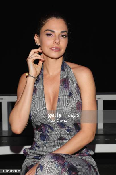 Livia Brito attends the MercedesBenz Fashion Week Mexico Fall/Winter 2019 Day 5 on April 5 2019 in Mexico City Mexico