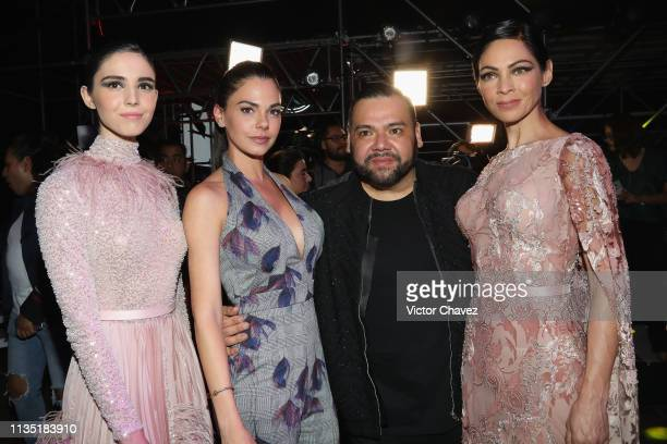 Livia Brito Benito Santos and Celina del Villar attend the MercedesBenz Fashion Week Mexico Fall/Winter 2019 Day 5 on April 5 2019 in Mexico City...