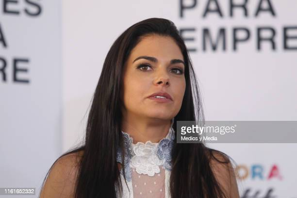 Livia Brito looks on during the first day of filming of 'Infelices Para Siempre' at Videocine on July 12 2019 in Mexico City Mexico