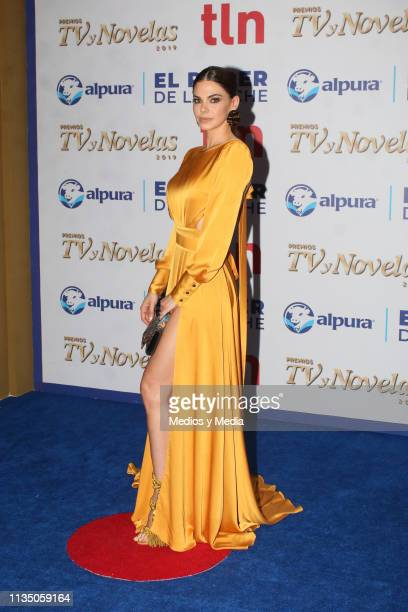 Livia Brito pose on the red carpet during the 'TV y Novelas' Awards 2019 at Campo Marte on March 10 2019 in Mexico City Mexico