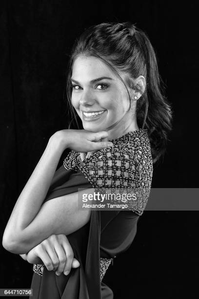 Livia Brito poses at Univision's 29th Edition of Premio Lo Nuestro A La Musica Latina at the American Airlines Arena on February 23 2017 in Miami...