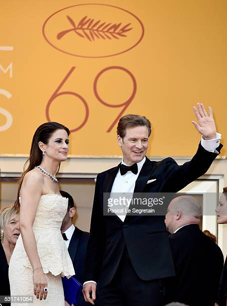 Livia Firth Actor and Colin Firth attend the 'Loving' premiere during the 69th annual Cannes Film Festival at the Palais des Festivals on May 16 2016...