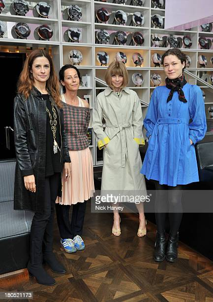 Livia Firth Amanda Harlech Anna Wintour and Mary Nighy attend the EcoAge and Green Carpet Challenge screening of Handprint at W London Leicester...