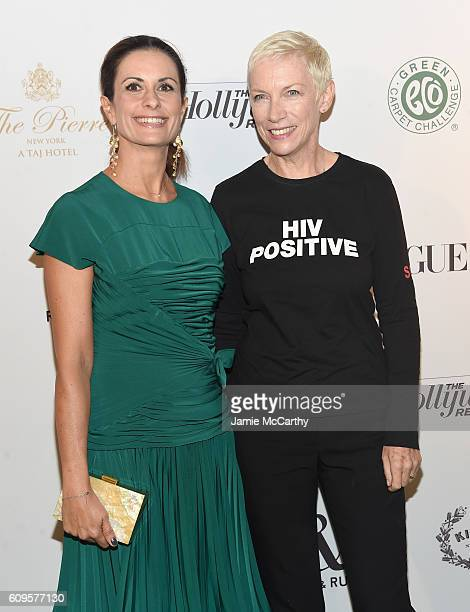 Livia Firth and Annie Lennox attend Fashion 4 Development's 6th Annual Official First Ladies Luncheon at The Pierre Hotel on September 21, 2016 in...