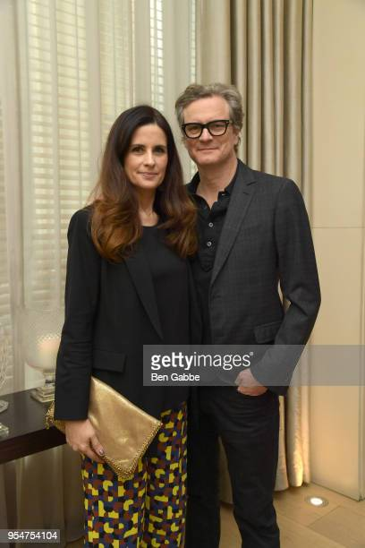 Livia Firth and Colin Firth attend a screening of the 'Forever Tasmania' documentary at The New York Edition on May 4 2018 in New York City