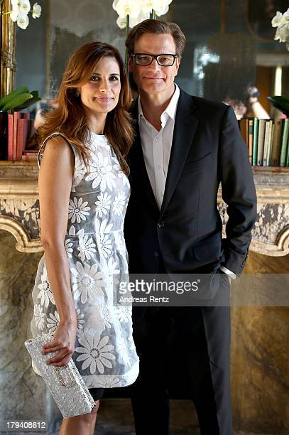 Livia Firth and Colin Firth attend Chopard Photocall during the 70th Venice International Film Festival at Palazzo del Casino on September 3 2013 in...