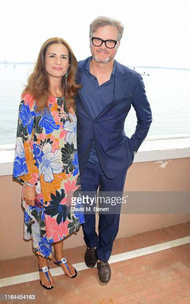 Livia Firth and Colin Firth attend The Green Carpet Fashion Awards lunch hosted by CNMI and EcoAge at Belmond Cipriani Hotel on August 28 2019 in...