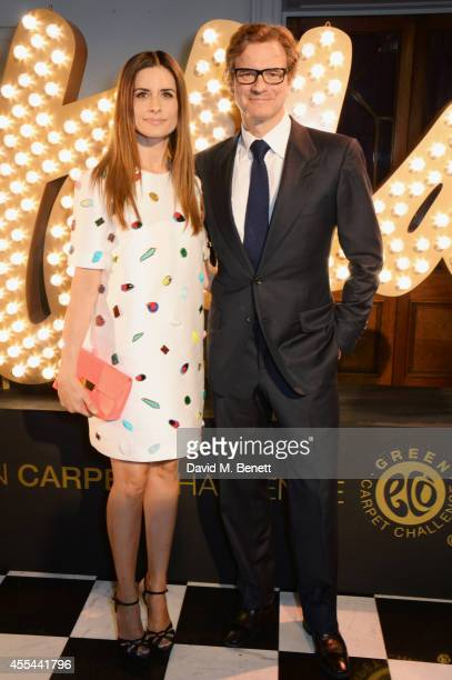 Livia Firth and Colin Firth attend The London 2014 Stella McCartney Green Carpet Collection during London Fashion Week at The Royal British Institute...