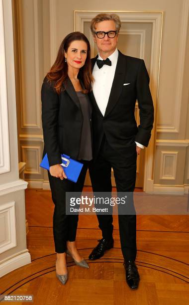 Livia Firth and Colin Firth attend the mothers2mothers Winter Fundraiser hosted by Salma Hayek Pinault and FrancoisHenri Pinault The dinner is in...