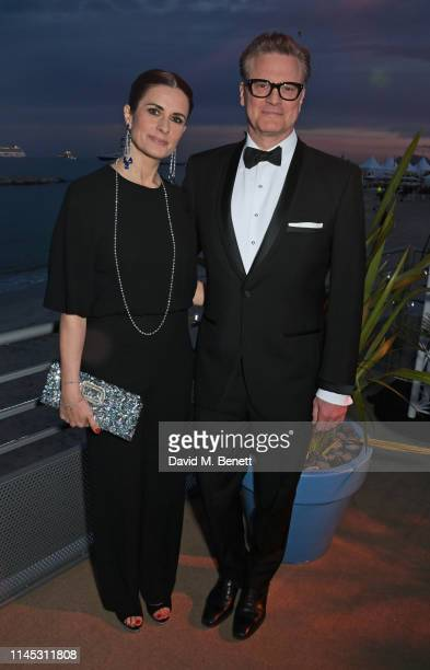 Livia Firth and Colin Firth attend the official Trophee Chopard dinner as part of the 72nd Cannes International Film Festival at Agora on May 20 2019...