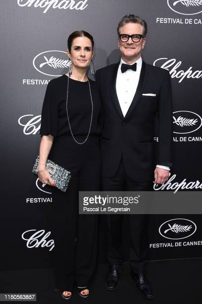 Livia Firth and Colin Firth attend the Official Trophee Chopard Dinner Photocall as part of the 72nd Cannes International Film Festival on May 20...
