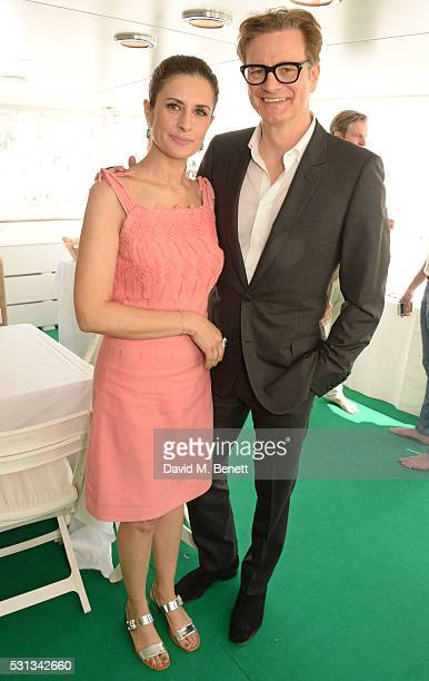 Livia Firth and Colin Firth attends a private lunch which they hosted with Chopard to celebrate the journey to sustainable luxury during the Cannes...