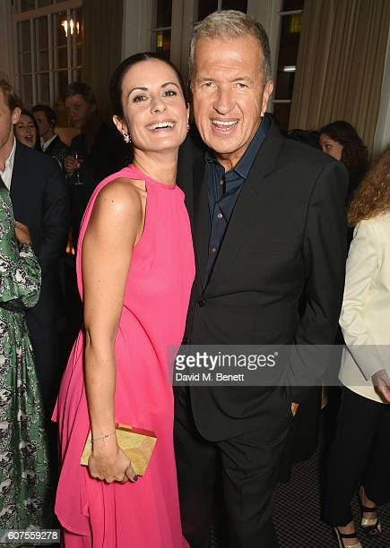Livia Firth and Mario Testino attend the Green Carpet Challenge 2016 BAFTA Night to Remember on September 18 2016 in London England