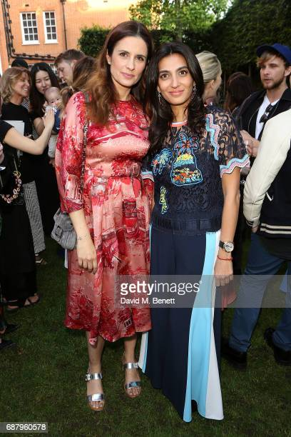 Livia Firth and Megha Mittal attend the British Fashion Council's 2017 Fashion Trust grant recipients announcement on May 24 2017 in London England