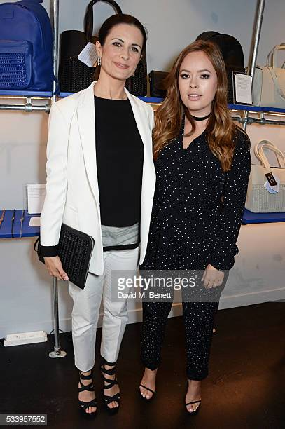 Livia Firth and Tanya Burr attend the Bottletop Regent Street store launch on May 24 2016 in London England
