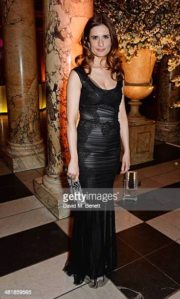 Livia Firth attends a private dinner celebrating the Victoria and Albert Museum's new exhibition 'The Glamour Of Italian Fashion 1945 2014' at...