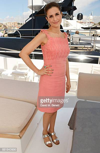 Livia Firth attends a private lunch hosted by Colin Firth Livia Firth and Chopard to celebrate the journey to sustainable luxury during the Cannes...