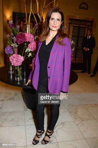 Livia Firth attends an after party following the UK Premiere of 'The Happy Prince' hosted by Justine Picardie editor of Harper's Bazaar at Cafe Royal...