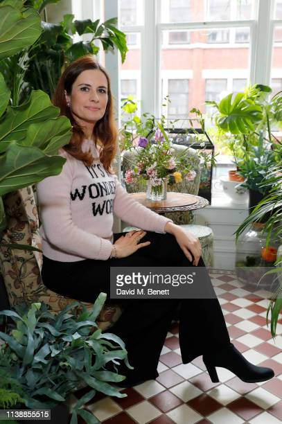 Livia Firth attends lunch to celebrate Alberta Ferretti's 'Love Me' collection with EcoAge at Mr Fogg's House of Botanicals on March 28 2019 in...