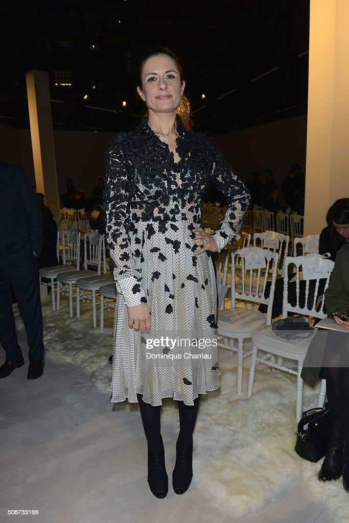 Giambattista Valli : Front Row - Paris Fashion Week - Haute Couture Spring Summer 2016