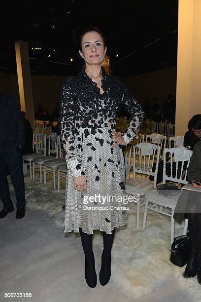 Livia Firth attends the Giambattista Valli Haute Couture Spring Summer 2016 show as part of Paris Fashion Week>> on January 25 2016 in Paris France