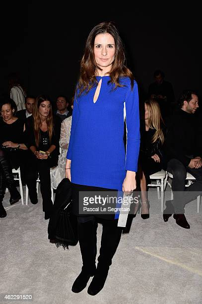 Livia Firth attends the Giambattista Valli show as part of Paris Fashion Week Haute Couture Spring/Summer 2015 on January 26 2015 in Paris France