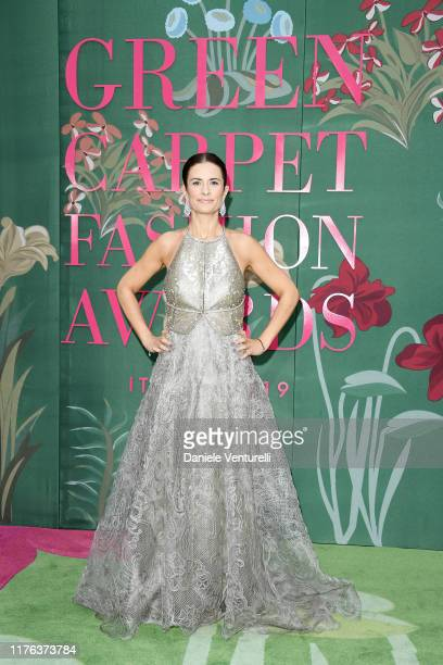 Livia Firth attends the Green Carpet Fashion Awards during the Milan Fashion Week Spring/Summer 2020 on September 22, 2019 in Milan, Italy.