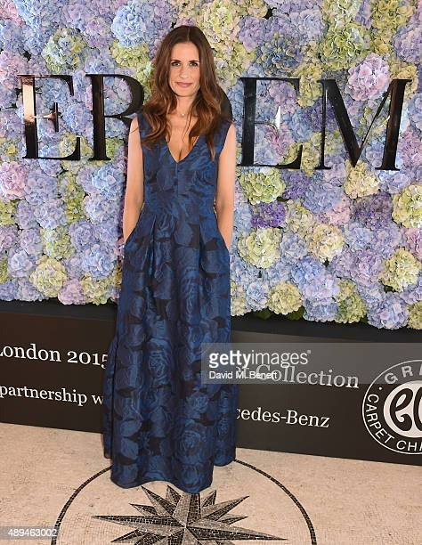 Livia Firth attends the London 2015 Green Carpet Collection By Erdem in partnership with MercedesBenz at the Wallace Collection on September 21 2015...