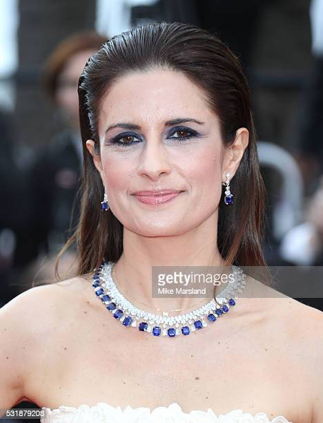Livia Firth attends the 'Loving' premiere during the 69th annual Cannes Film Festival at the Palais des Festivals on May 16 2016 in Cannes France