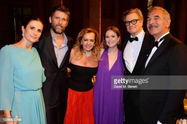 Livia Firth Bart Freundlich Caroline Scheufele Julianne Moore Colin Firth and Carlo Capasa attend The Green Carpet Fashion Awards Italia 2018 after...