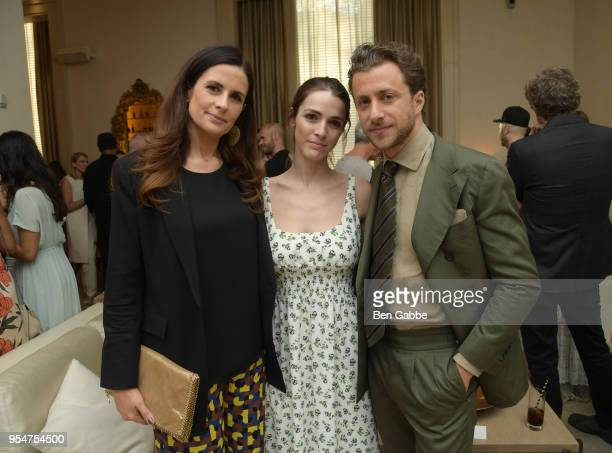 Livia Firth Bee Shaffer and Francesco Carrozzini attend a screening of the 'Forever Tasmania' documentary at The New York Edition on May 4 2018 in...