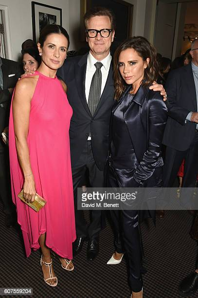 Livia Firth Colin Firth and Victoria Beckham attend the Green Carpet Challenge 2016 BAFTA Night to Remember on September 18 2016 in London England
