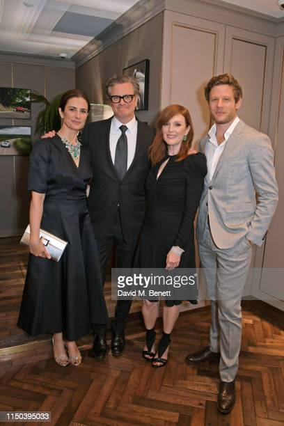 Livia Firth, Colin Firth, Julianne Moore and James Norton attend the Chopard Bond Street Boutique reopening cocktail on June 17, 2019 in London,...