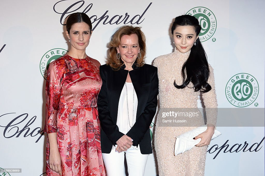 Livia Firth, Co-President of Chopard Caroline Gruosi-Scheufel and Fan Bingbing attend the Chopard Lunch during the 66th Annual Cannes Film Festival on May 17, 2013 in Cannes, France.