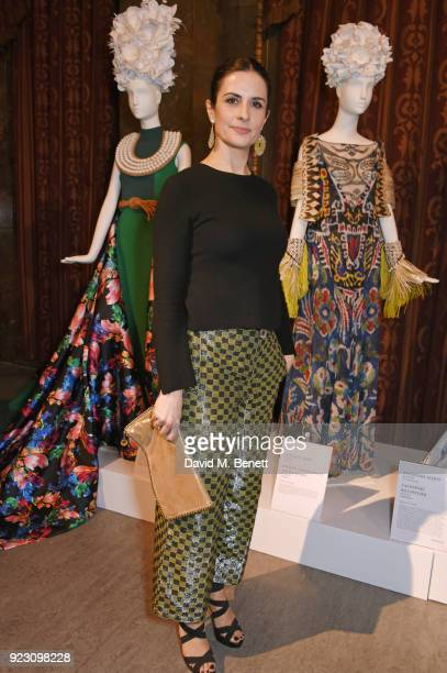 Livia Firth Founder and Creative Director of EcoAge attends the VIP preview of the Commonwealth Fashion Exchange exhibition at the High Commission of...