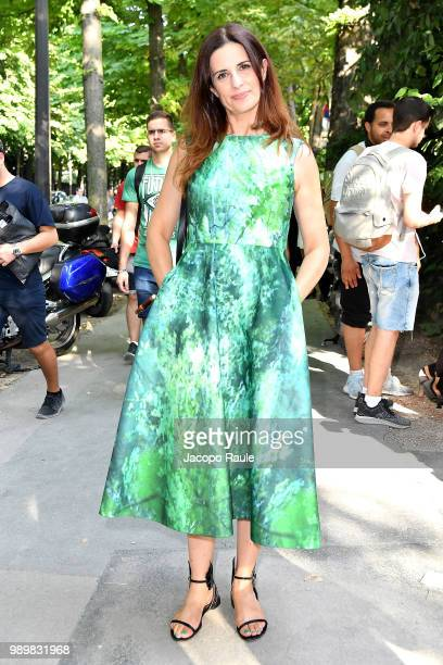 Livia Firth is seen at the Giambattista Valli Haute Couture Fall Winter 2018/2019 Show on July 2 2018 in Paris France
