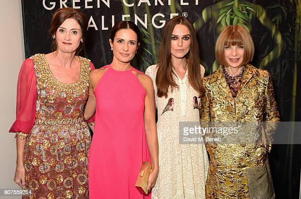 Livia Firth Keira Knightley Amanda Berry and Anna Wintour attend the Green Carpet Challenge 2016 BAFTA Night to Remember on September 18 2016 in...